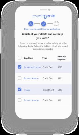 Debt selection